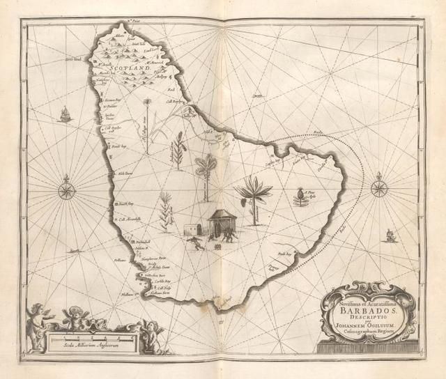 Novissima et Acuratissima Barbados. Descriptio per Johannem Ogiluium Cosmographum Regium