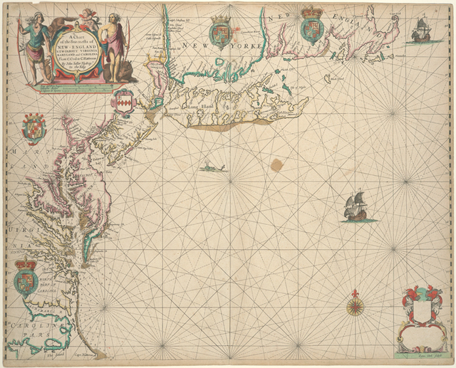 A chart of the sea coasts of New England New Jarsey Virginia Maryland and Carolina from C. Cod to C. Hatteras.