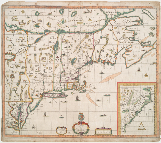A map of ye English empire in ye continent of America.  Viz Virginia New York Mary Land New I[J]arsey Carolina New England.