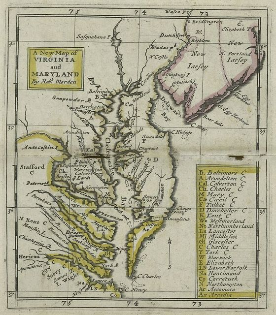 A new map of Virginia and Maryland