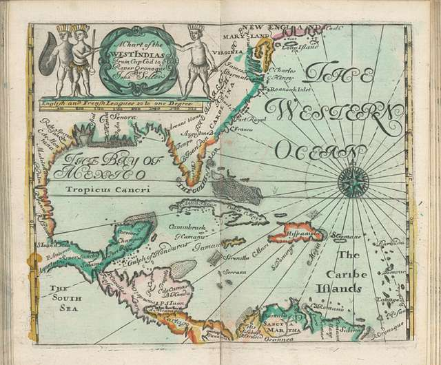 A chart of the West Indias from Cap Cod to ye River Oronoque