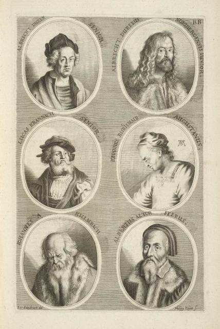 [Bust portraits.] Albrecht Durer Senior, Albrecht Durerus Noribergensis Iunior, [...]
