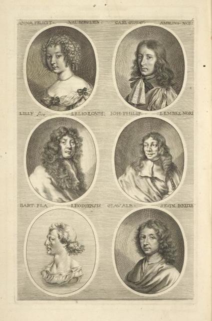 [Bust portraits.] Anna Felicit Neubergerin, Carl Gustau Ambling Nori, [...]