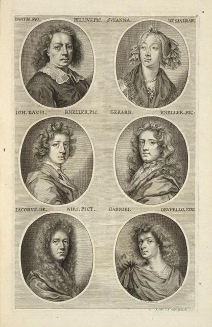 [Bust portraits.] Barth. Mo. Rillius. Pic., Susanna De Sandrart, [...]