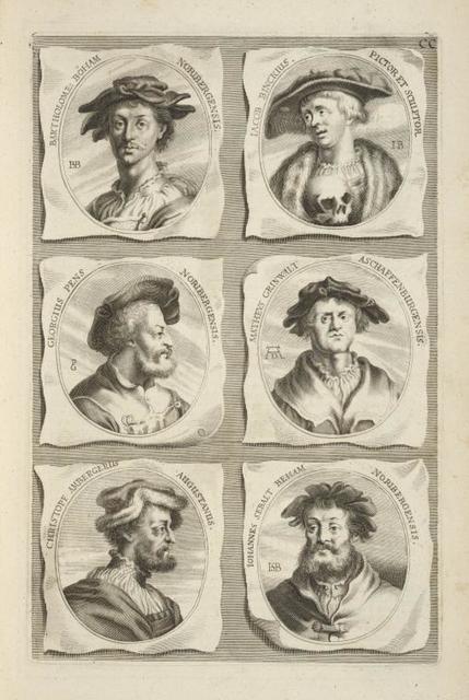 [Bust portraits.] Bartholome: Boham Noribergensis, Iacob Binckius Pictor et Sculptor, [...]