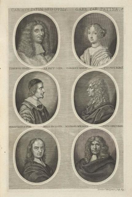 [Bust portraits.] Carolus. Patin. Med. D. Prof., Gabr. Car. Patina., [...]