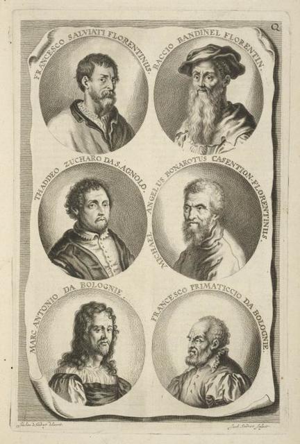 [Bust portraits.] Francesco Salviati Florentinus, Baccio Bandinel Forentin., [...]