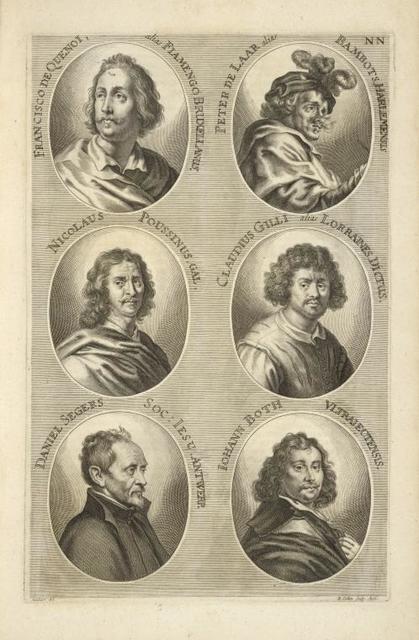 [Bust portraits.] Francisco de Quenot alias Fiamengo Bruxellanus, Peter de Laar alias Bambots Harlemensis, [...]