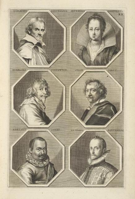 [Bust portraits.] Horatius Gentilesco, Artemesia Gentilesca, [...]