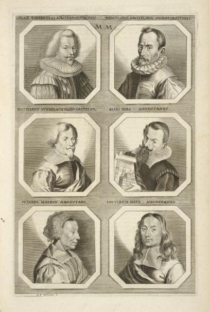 [Bust portraits.] Iohan Torrentius Amstelrodamensis, Wendelinus Dieterlinus Argentoratensis, [...]