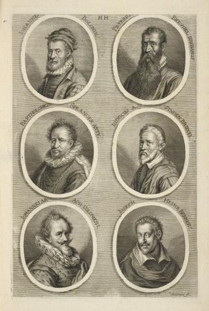 [Bust portraits.] Iohannes Bolonie, Peterus Breugel Bredanus, [...]