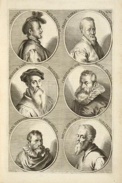 [Bust portraits.] Iohannes Pocksbergerus, Franz Flores Antverpiensis, [...]