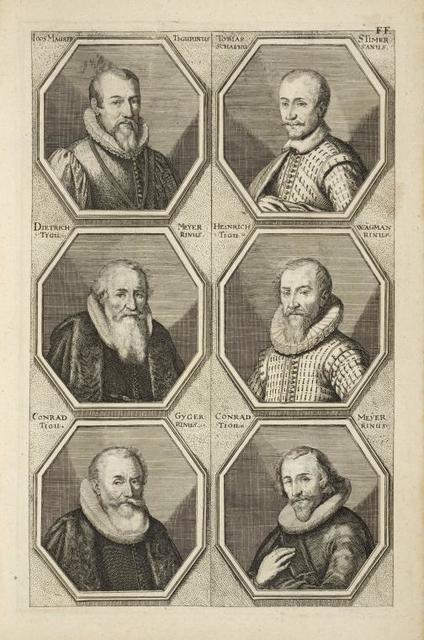[Bust portraits.] Ioos Maurer Tigurinus, Tobias Stimer Schafhusanus, [...]
