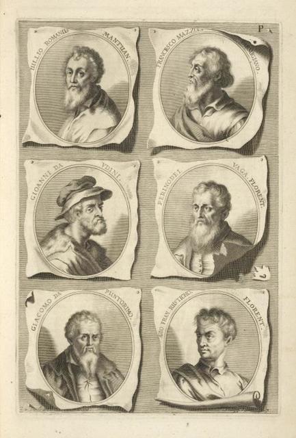[Bust portraits.] Iulio Romanus Mantuan., Francesco Mazzoli Parmigiano, [...]