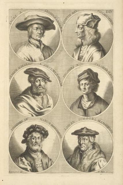 [Bust portraits.] Lucas A. Leyden S. Lugdun BA., Quintin Mes Sies Antverpie, [...]