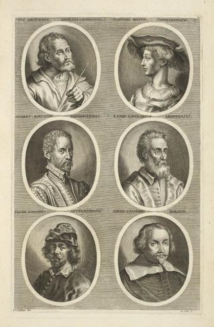 [Bust portraits.] Mat Grunwald Aschafenburgensis, Barthel Geham Noribergenensis, [...]