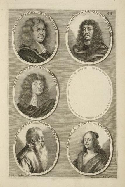[Bust portraits.] Matthæs Merianus Matthæi Filius, David Klocker Ehrnstrahl Hamburgensis, [...]