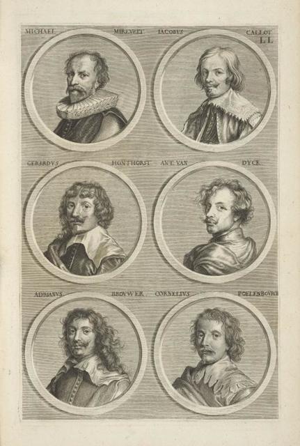 [Bust portraits.] Michael Mirevelt, Iacobus Callot, [...]
