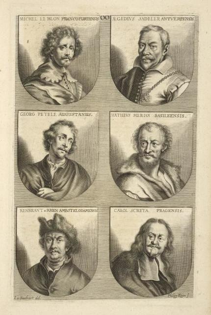 [Bust portraits.] Michel Le Blon Francofurtensis, Ægidius Sadeler Antverpensis, [...]