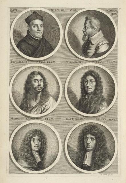 [Bust portraits.] P. Ath. Mat. Kircher, Gal Galilila. Mat., [...]