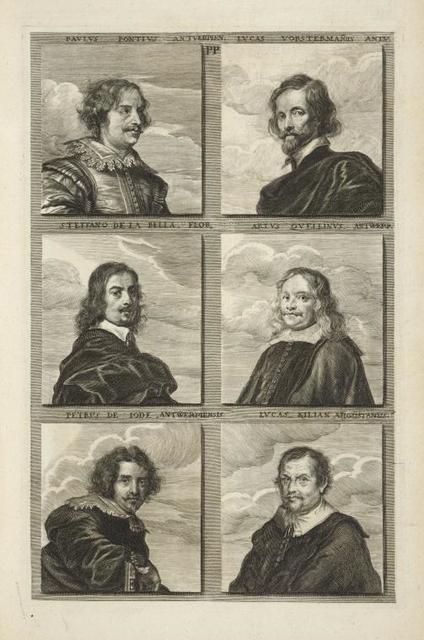 [Bust portraits.] Paulus Pontius Antverpien., Lucas Vorstermanus Antm., [...]