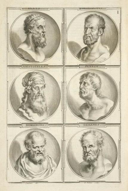 [Bust portraits.] Plato, Theophrastus, [...]