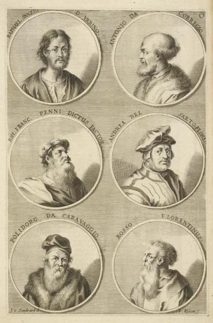 [Bust portraits.] Raphael Sanzio d. Urbino, Antonio da Corregio, [...]