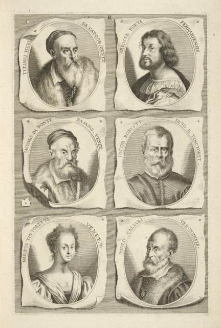 [Bust portraits.] Titiano Uccello da Cadoor. Venet., Arioste Poeta Ferrariensis, [...]
