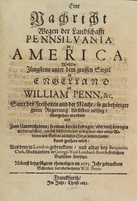 Eine Nachricht wegen der Landschaft Pennsilvania in America