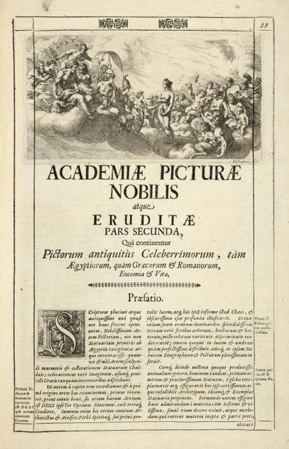 [Head-piece.] Academiæ Picturæ Nobilis atque eruditæ pars secunda, [...]