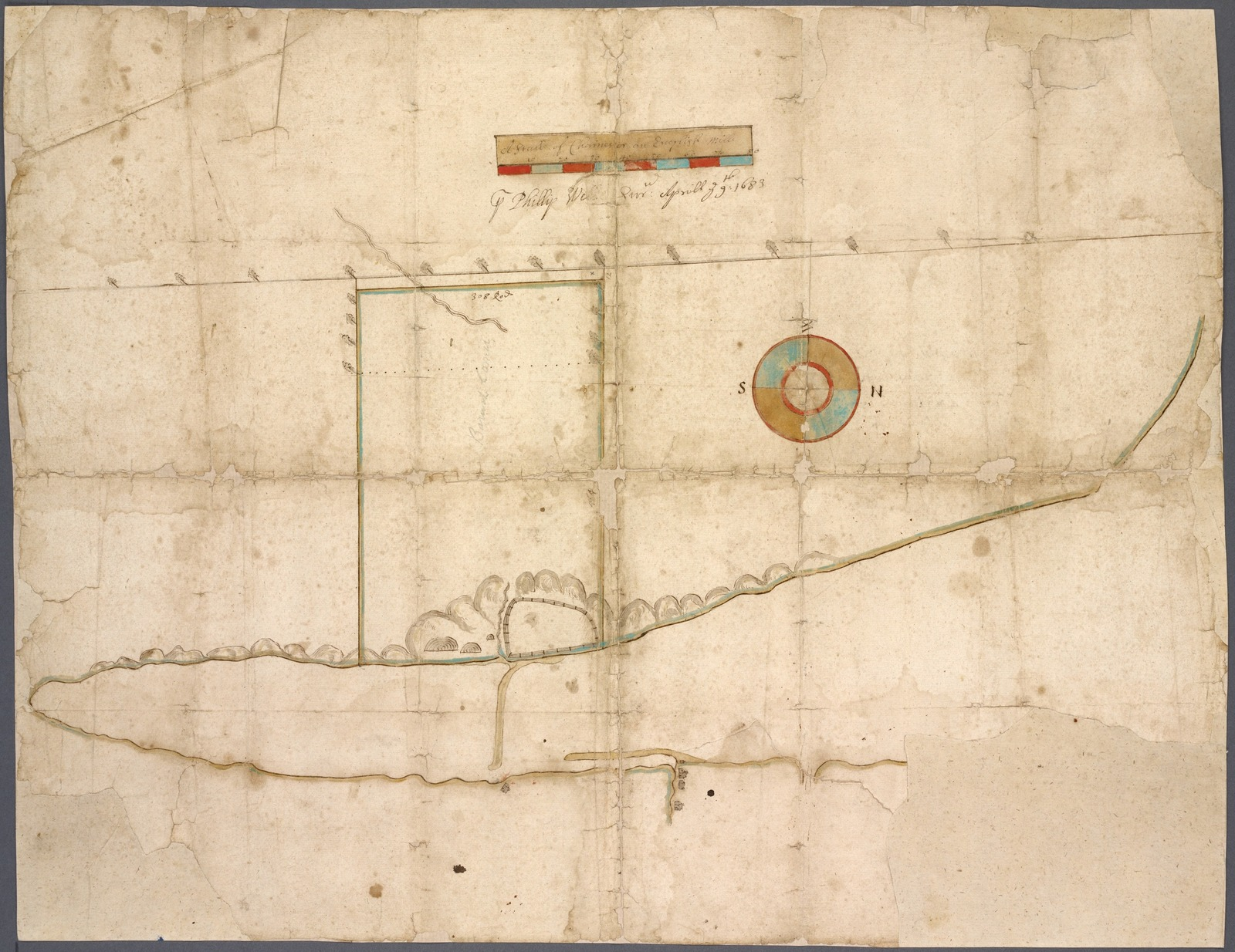 Map of West's patent on west side of Hempstead Harbor