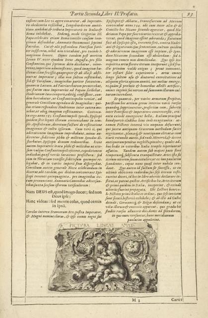 [Tail-piece.] Pictura Lineas Amat. Partis Secundæ Libri II. Præfatio.