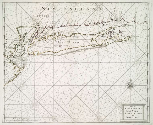 Part of New England New York East New I[J]arsey and Long Iland.