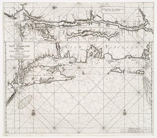 Pas-kaart vande zee kusten van Niew Nederland anders genaamt Niew York....