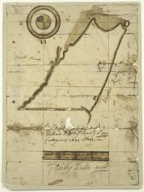 "Survey of a ""Certain neck of land--lying upon the main, and adjoining upon Harlem River."""