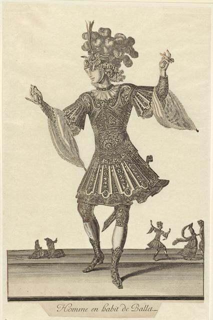 Homme en habit de ballet.