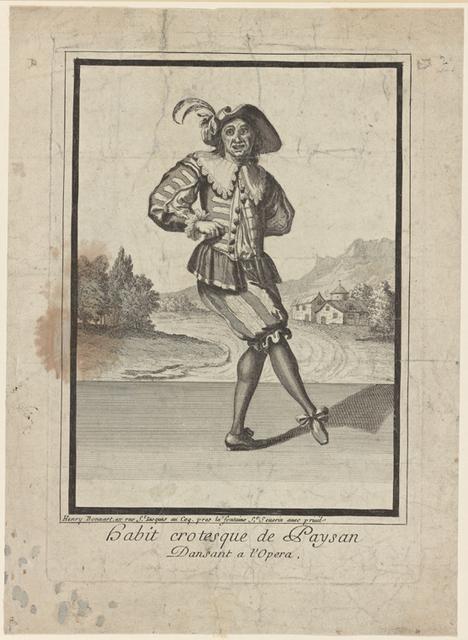 Habit crotesque de paysan. Dansant à l'Opéra.