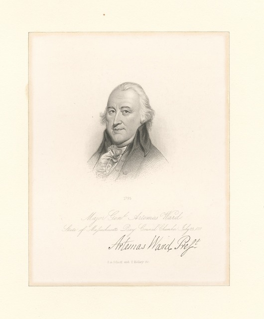 Major Genl. Artemas Ward. State of Massachusetts Bay. Council chamber July 23, 1777