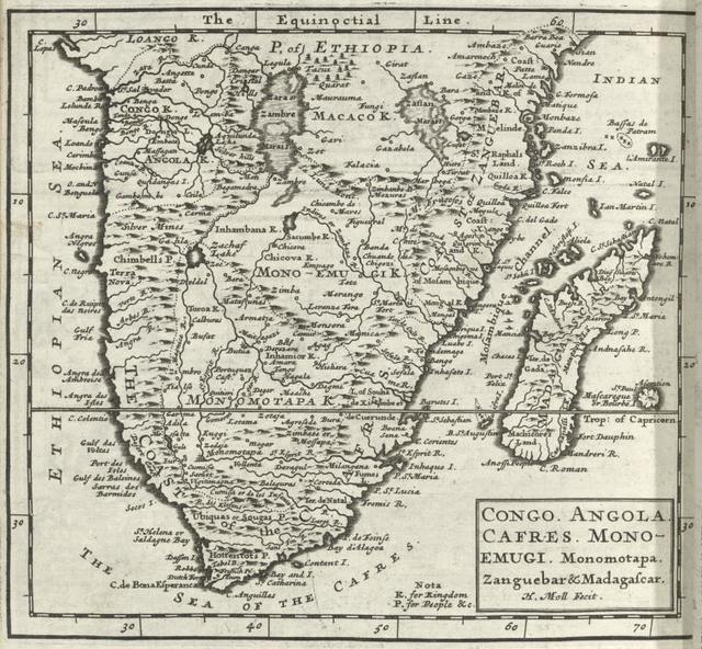 Congo. Angola. Cafres. Monoemugi. Monomotapa. Zanguebar & Madagascar.