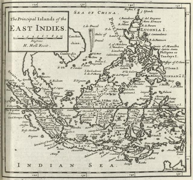 The principal islands of the East Indies.