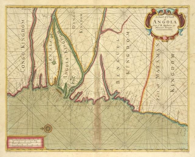 A chart of coast of ANGOLA from R Ambris to Mount Negro