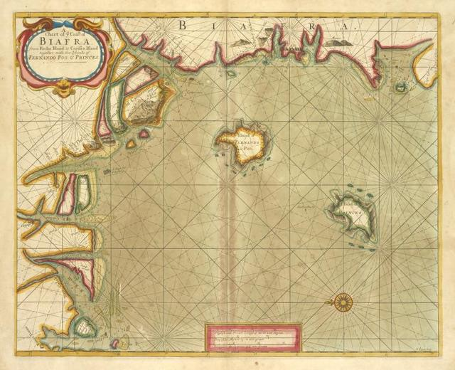 A chart of coast of BIAFRA from Foche Island to Corisco Island together with the Islands of FERNANDO POO and PRINCES