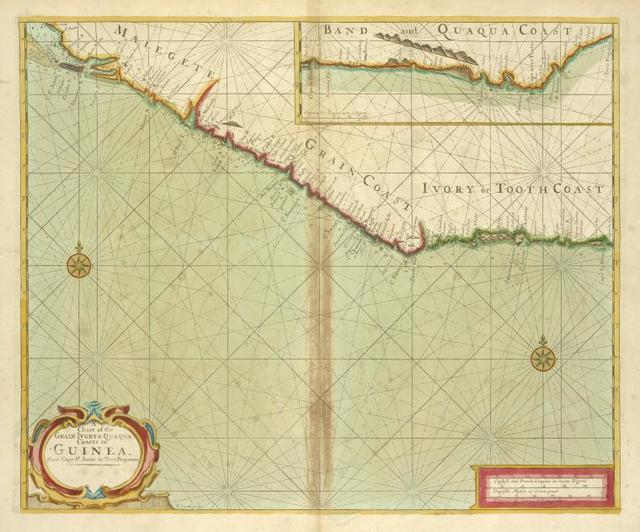 A chart of the Grain Ivory and Quaqua coasts in GUINEA from cape St. Anne to Teen Pequene