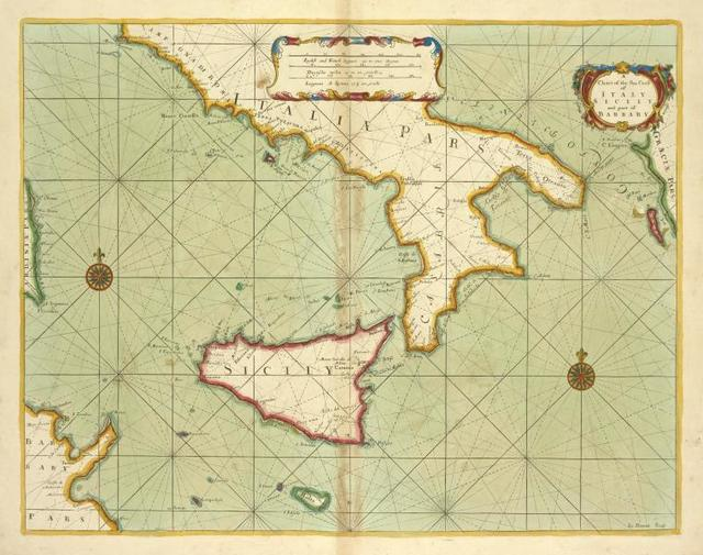 A chart of the sea coast of ITALY, SICILY and part of BARBARY