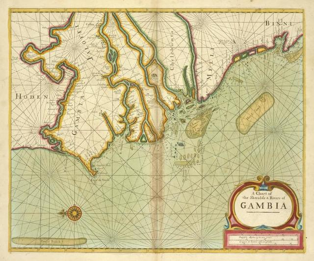 A chart of the shoulds and rivers of GAMBIA
