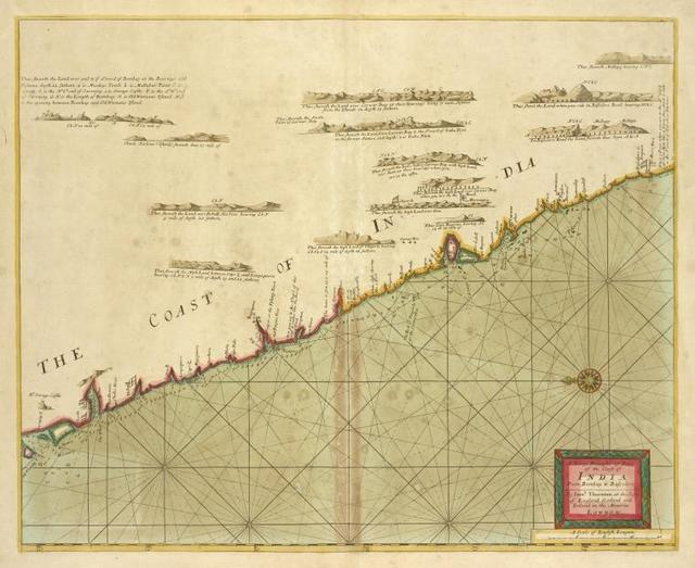 A large draught of parrt of the coast of INDIA from Bombay to Bassalore