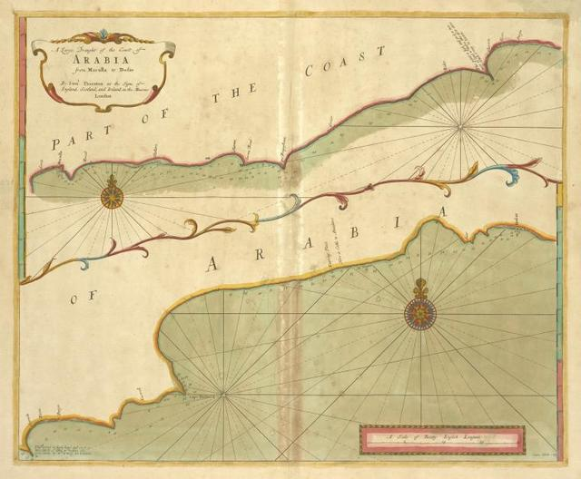 A large draught of the coast of ARABIA from Maculla to Dofar