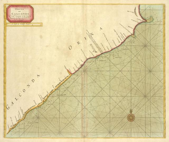 A new chart of the coast of ORIXA and GALCONDA