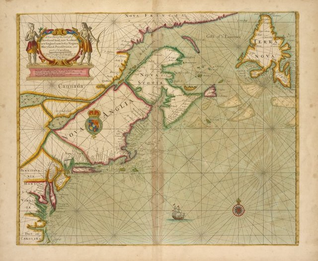 A new chart of the sea coast of Newfound land, New Scotland, New England....
