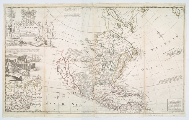 This map of North America according to ye newest and most exact observations is most humbly dedicated by your Lordship's most humble servant